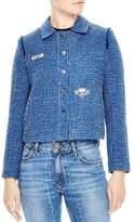 Sandro Flavie Cropped Tweed Jacket