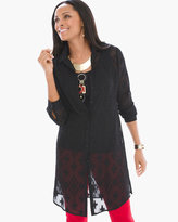 Chico's Sheer Jacquard Tunic