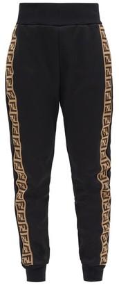 Fendi Ff-monogram Jersey Track Pants - Black
