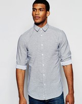 Benetton Casual Shirt With Thin Stripe In Regular Fit