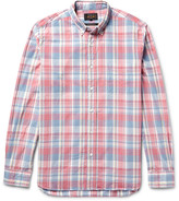 Beams Slim-Fit Button-Down Collar Checked Cotton Shirt
