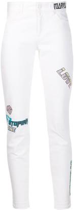 Escada Sport Skinny Patchwork Jeans