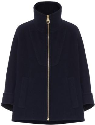 Chloé Wool-blend funnel neck jacket