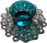 STREET CRAFT Handcrafted Mosaic Glass Beads Sequin Round Shape Candlestick Candle Holder Tealights