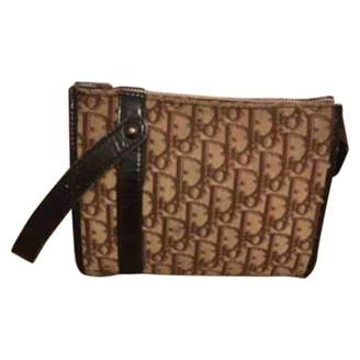 Christian Dior Brown Wool Clutch bags