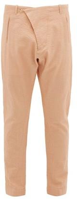 Arjé Arje - The Teo Cotton-blend Seersucker Trousers - Mens - Orange