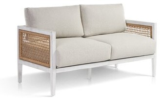 Rosecliff Heights Mciver Parva Loveseat with Sunbrella Cushions Cushion Color: Cast Shale