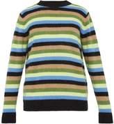 The Elder Statesman - Inch Striped Cashmere Sweater - Mens - Blue Multi