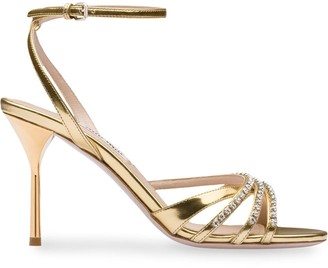 Miu Miu Metallic 85mm Sandals