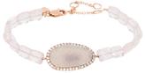 Meira T 14K Rose Gold, Druzy, Rose Quartz & 0.27 Total Ct. Diamond Bracelet
