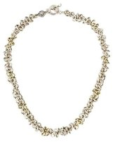 Robert Lee Morris Sterling Circle Link Chain Necklace