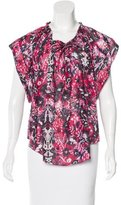 IRO Iseline Abstract Print Top w/ Tags