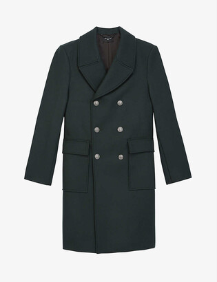 The Kooples Double-breasted wool-blend officer coat