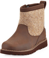 UGG Bayson Wool-Trim Leather Boot, Stout, Youth
