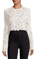 A.L.C. Talia Cotton Lace Cropped Top