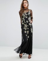 Miss Selfridge Embroidered Floral Maxi Dress
