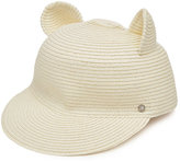 Karl Lagerfeld Straw Hat with Cat Ears