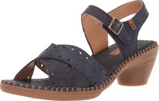 El Naturalista Women's N5325 Pleasant Ocean/Aqua Heeled Sandal 41 Medium EU (10 US)