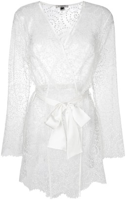 Gilda & Pearl Evelyn silk waist-tied kimono
