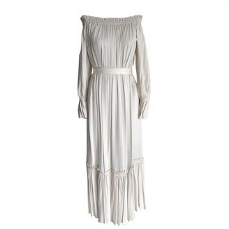 Onelady Off Shoulder Long Dress Offwhite Tais