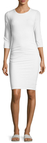 James Perse Crewneck Cotton Sheath Dress