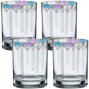 Culver Frank Lloyd Wright April Showers Double Old Fashioned Glass