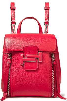 Tod's Convertible Pebbled-leather Backpack