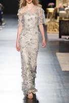 Badgley Mischka Floral Evening Gown