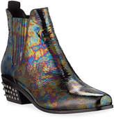 Donald J Pliner Milann Iridescent Leather Chelsea Booties