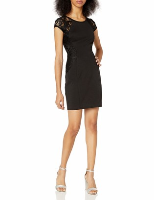 Amy Byer A. Byer Women's Cap Sleeve Fitted Dress