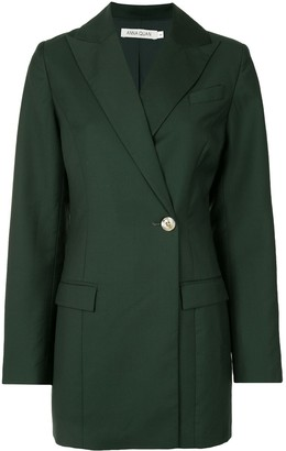 ANNA QUAN Off-Centre Button Blazer