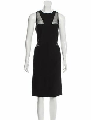 Thierry Mugler Semi-Sheer Sleeveless Dress Black