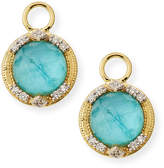 Jude Frances 18k Lisse Round Triple Earring Charms