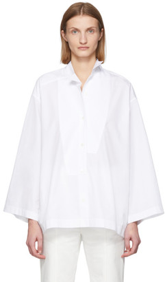 Loewe White Oversized Leaning Shirt