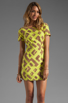 Plenty by Tracy Reese Geometric Jacquard Contrast Shift Dress