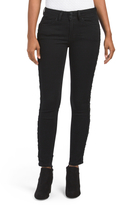 Juniors Skinny Jeans With Lace Up Sides