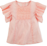Carter's Lace-Front Cotton Flutter Top, Toddler Girls (2T-4T)