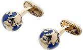 Paul Smith Globe Cufflinks, Gold/Blue