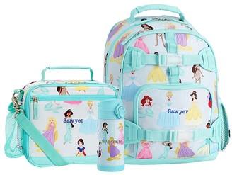 Pottery Barn Kids Mackenzie Aqua Disney Princess Backpack & Cold Pack Lunch Bundle, Set Of 3