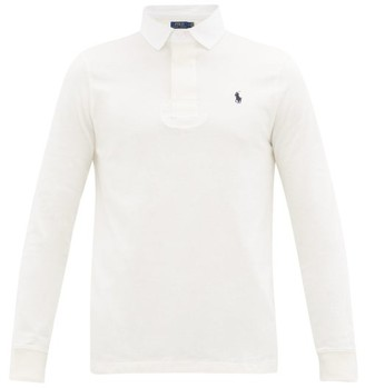 Polo Ralph Lauren Slim-fit Long-sleeved Cotton Polo Shirt - White