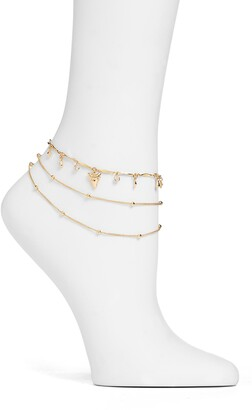 Ettika Shark Tooth Anklet