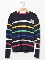 Gap Intarsia heart stripe sweater