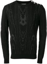 Balmain intarsia jumper - men - Cotton/Polyamide - L