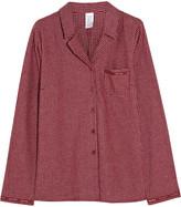 Calvin Klein Underwear Plaid cotton-flannel pajama top