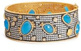 Freida Rothman Women's Baroque Blues Bangle