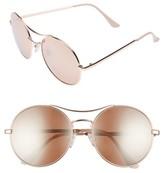 BP Junior Women's 58Mm Oversize Round Sunglasses - Peach