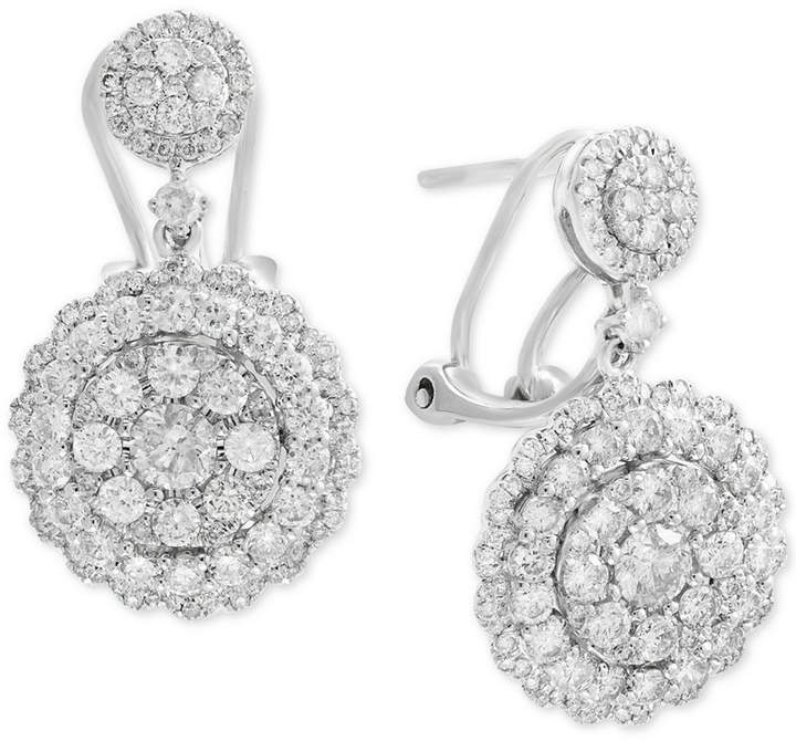 Effy Rock Candy by Diamond Cluster Drop Earrings (2-1/10 ct. t.w.) in 14k White Gold