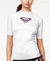 Roxy Short-Sleeve Logo Rashguard