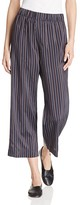 Vince Slouchy Striped Crop Pants