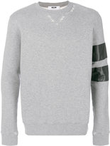 MSGM stripe sleeve sweatshirt